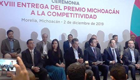 Entregan el Premio Michoacán a la Competitividad. Noticias en tiempo real