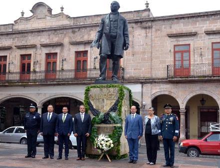 Conmemoran aniversario luctuoso del Benemérito de las Américas. Noticias en tiempo real