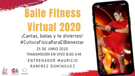 Impartirá serial baile fitness virtual 2020